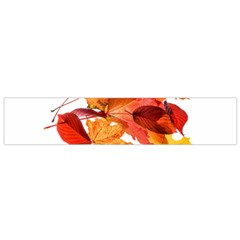 Autumn Leaves Leaf Transparent Flano Scarf (small)