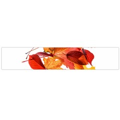 Autumn Leaves Leaf Transparent Flano Scarf (large)