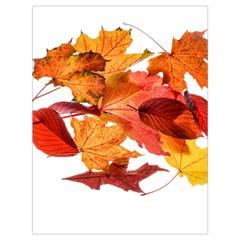 Autumn Leaves Leaf Transparent Drawstring Bag (large)
