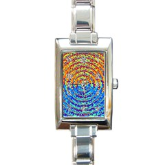 Background Color Game Pattern Rectangle Italian Charm Watch