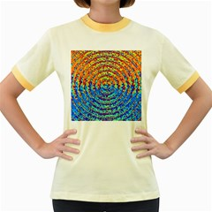 Background Color Game Pattern Women s Fitted Ringer T-Shirts