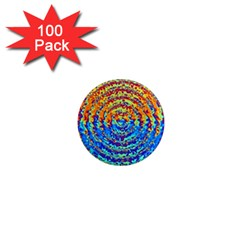 Background Color Game Pattern 1  Mini Magnets (100 Pack)
