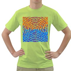 Background Color Game Pattern Green T Shirt