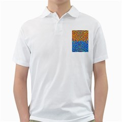 Background Color Game Pattern Golf Shirts