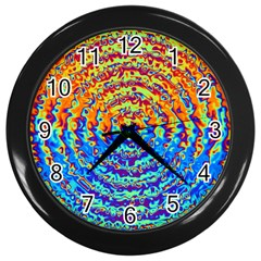Background Color Game Pattern Wall Clocks (black)