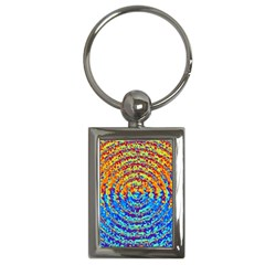 Background Color Game Pattern Key Chains (rectangle)