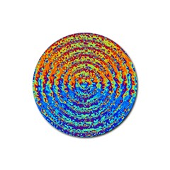 Background Color Game Pattern Rubber Round Coaster (4 Pack)