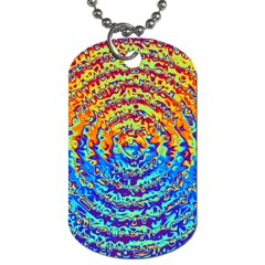 Background Color Game Pattern Dog Tag (two Sides)