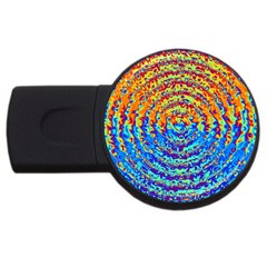 Background Color Game Pattern Usb Flash Drive Round (2 Gb)