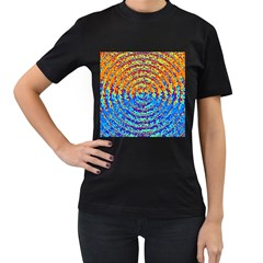 Background Color Game Pattern Women s T Shirt (black) (two Sided)