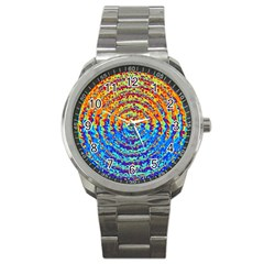 Background Color Game Pattern Sport Metal Watch