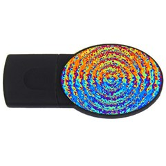Background Color Game Pattern Usb Flash Drive Oval (4 Gb)