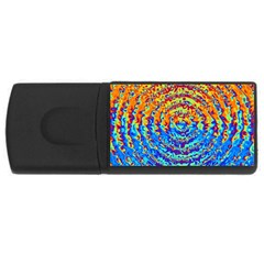 Background Color Game Pattern USB Flash Drive Rectangular (4 GB)
