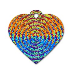 Background Color Game Pattern Dog Tag Heart (one Side)