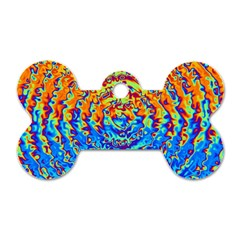Background Color Game Pattern Dog Tag Bone (One Side)