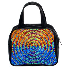 Background Color Game Pattern Classic Handbags (2 Sides)