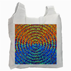 Background Color Game Pattern Recycle Bag (two Side)