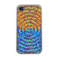 Background Color Game Pattern Apple Iphone 4 Case (clear)