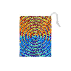 Background Color Game Pattern Drawstring Pouches (small)