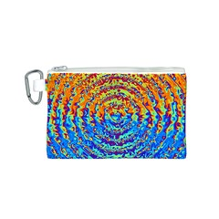 Background Color Game Pattern Canvas Cosmetic Bag (s)