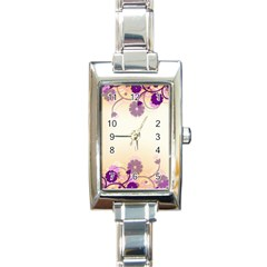 Background Floral Background Rectangle Italian Charm Watch