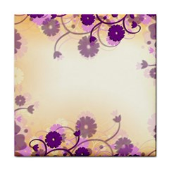 Background Floral Background Tile Coasters