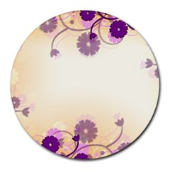 Background Floral Background Round Mousepads