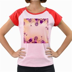 Background Floral Background Women s Cap Sleeve T Shirt