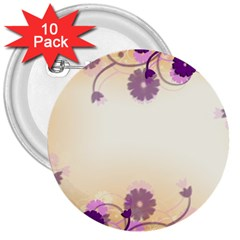 Background Floral Background 3  Buttons (10 Pack)