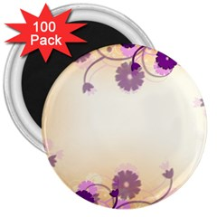 Background Floral Background 3  Magnets (100 Pack)