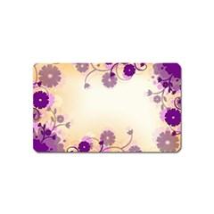 Background Floral Background Magnet (name Card)