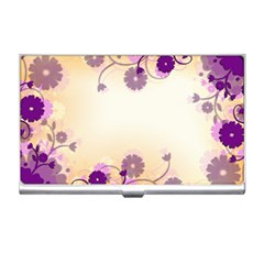 Background Floral Background Business Card Holders