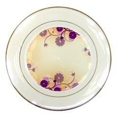Background Floral Background Porcelain Plates