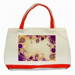 Background Floral Background Classic Tote Bag (red)