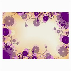 Background Floral Background Large Glasses Cloth (2 Side)
