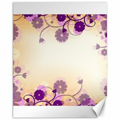 Background Floral Background Canvas 11  X 14