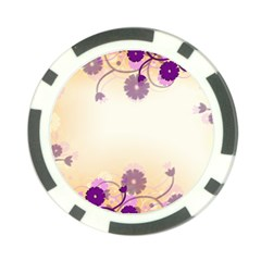 Background Floral Background Poker Chip Card Guard