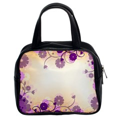 Background Floral Background Classic Handbags (2 Sides)