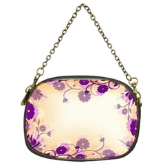 Background Floral Background Chain Purses (two Sides)