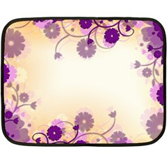 Background Floral Background Double Sided Fleece Blanket (mini)