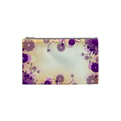 Background Floral Background Cosmetic Bag (small)
