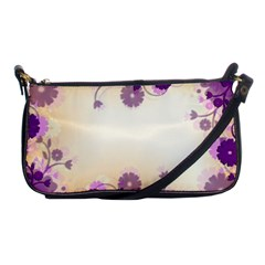 Background Floral Background Shoulder Clutch Bags