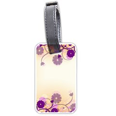 Background Floral Background Luggage Tags (one Side)