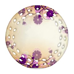 Background Floral Background Round Filigree Ornament (two Sides)