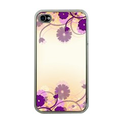Background Floral Background Apple Iphone 4 Case (clear)