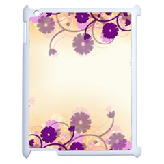 Background Floral Background Apple Ipad 2 Case (white)