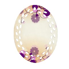 Background Floral Background Oval Filigree Ornament (two Sides)