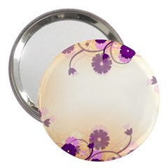 Background Floral Background 3  Handbag Mirrors