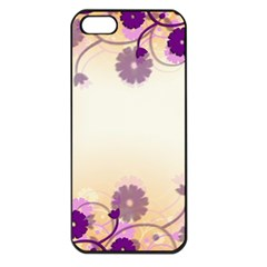 Background Floral Background Apple Iphone 5 Seamless Case (black)