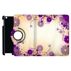 Background Floral Background Apple Ipad 3/4 Flip 360 Case